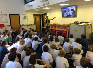 Talking to 11-13 year olds at Clayesmore Prep School